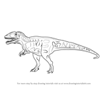 How to Draw a Carcharodontosaurus