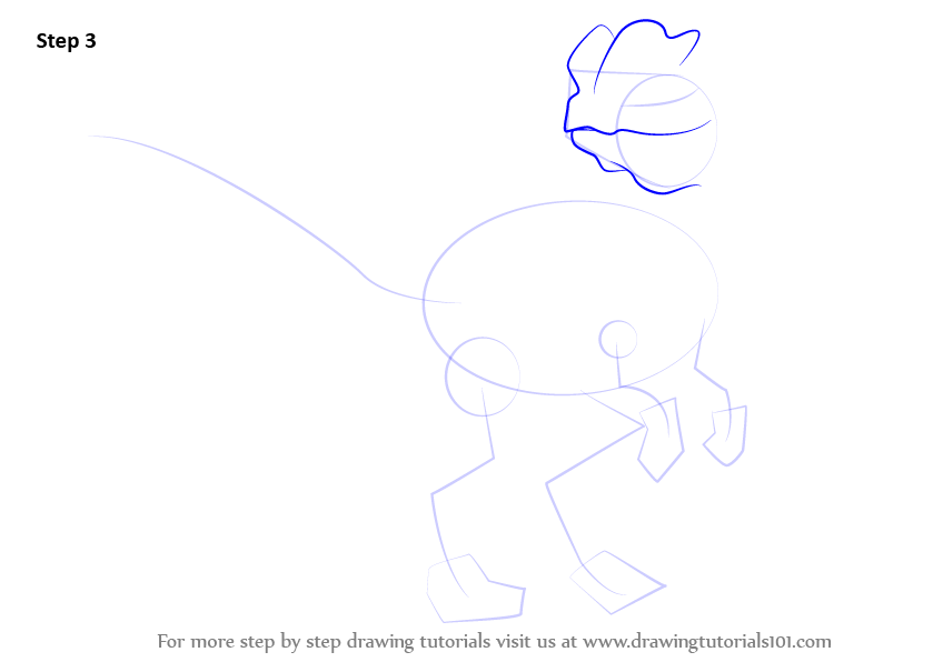 how to draw a dinosaur head step by step