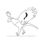 How to Draw a Dino Bird
