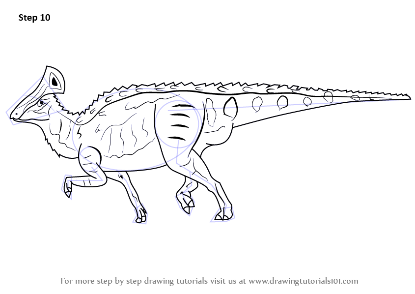 duck billed dinosaur coloring pages - photo#21