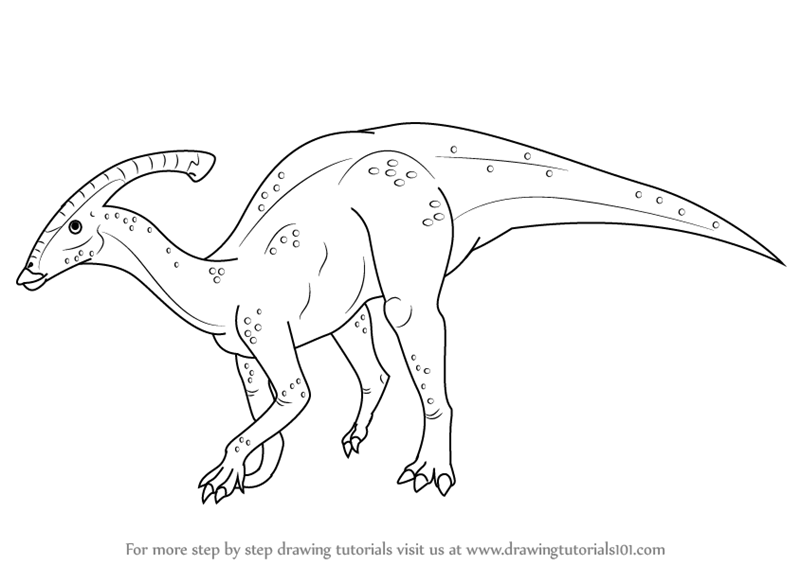 duck billed dinosaur coloring pages - photo#25