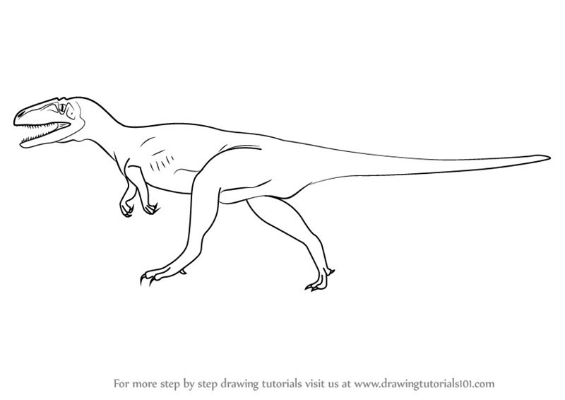 how to draw a megalosaurus