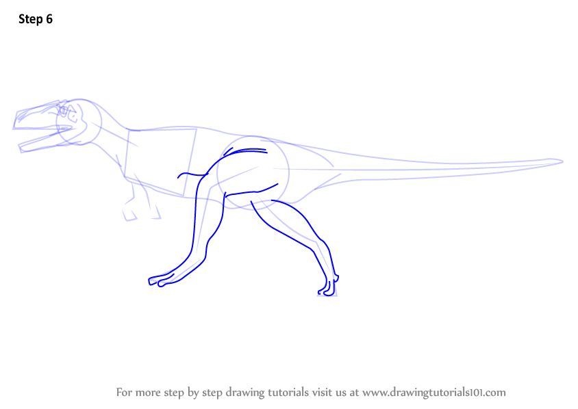 Learn How to Draw a Megalosaurus
