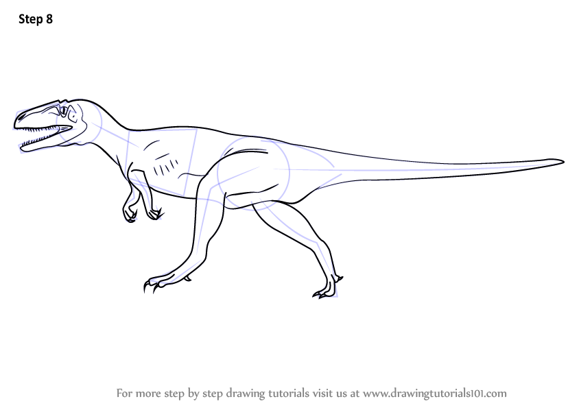 Learn How To Draw A Megalosaurus Dinosaurs Step By Step