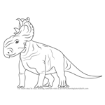 How to Draw a Pachyrhinosaurus