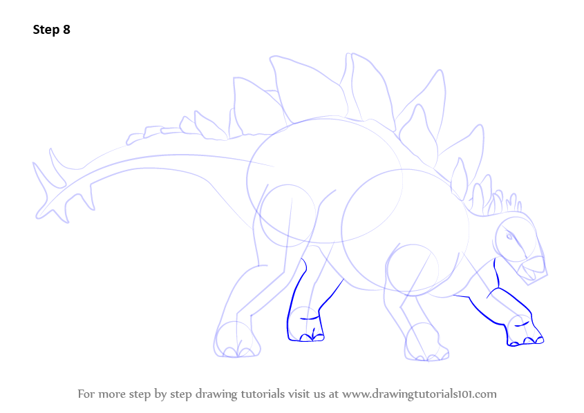 learn how to draw stegosaurus dinosaur dinosaurs step by step drawing tutorials. Black Bedroom Furniture Sets. Home Design Ideas