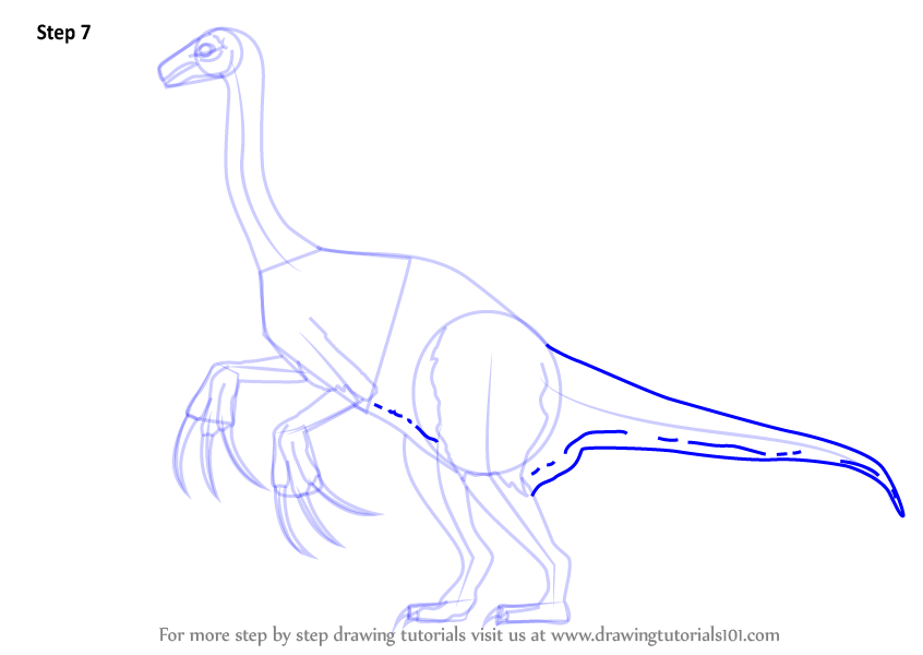 how to draw a dinosaur step by step easy