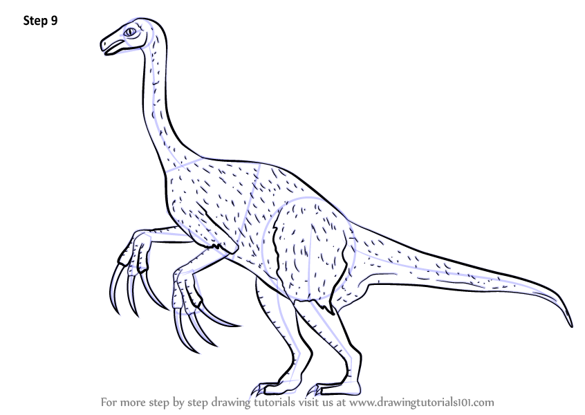 Learn How to Draw a Therizinosaurus Dinosaurs Step by Step Drawing Tutorials