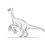 How to Draw a Therizinosaurus