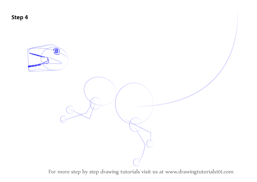 how to draw a raptor step by step