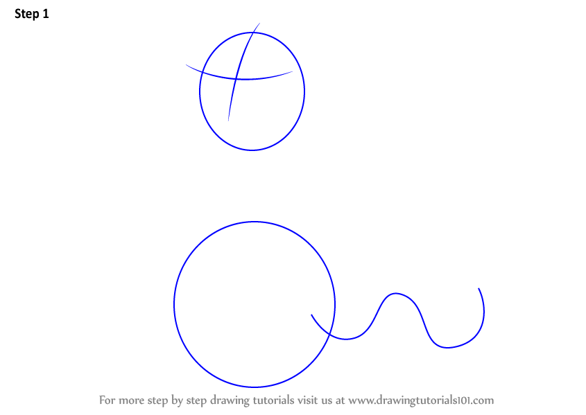 Draw Two Oval Outline For Nail