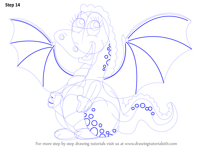 Step by Step How to Draw a Baby Dragon for Kids ...