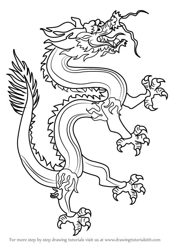 Learn How to Draw a Chinese Dragon (Dragons) Step by Step ...