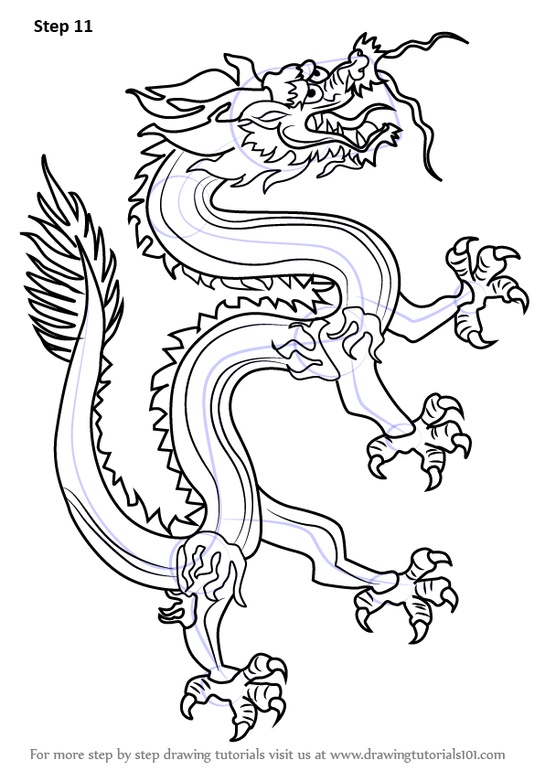 Step By Step How To Draw A Chinese Dragon