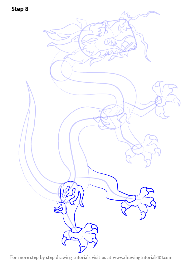 how to draw a japanese dragon step by step