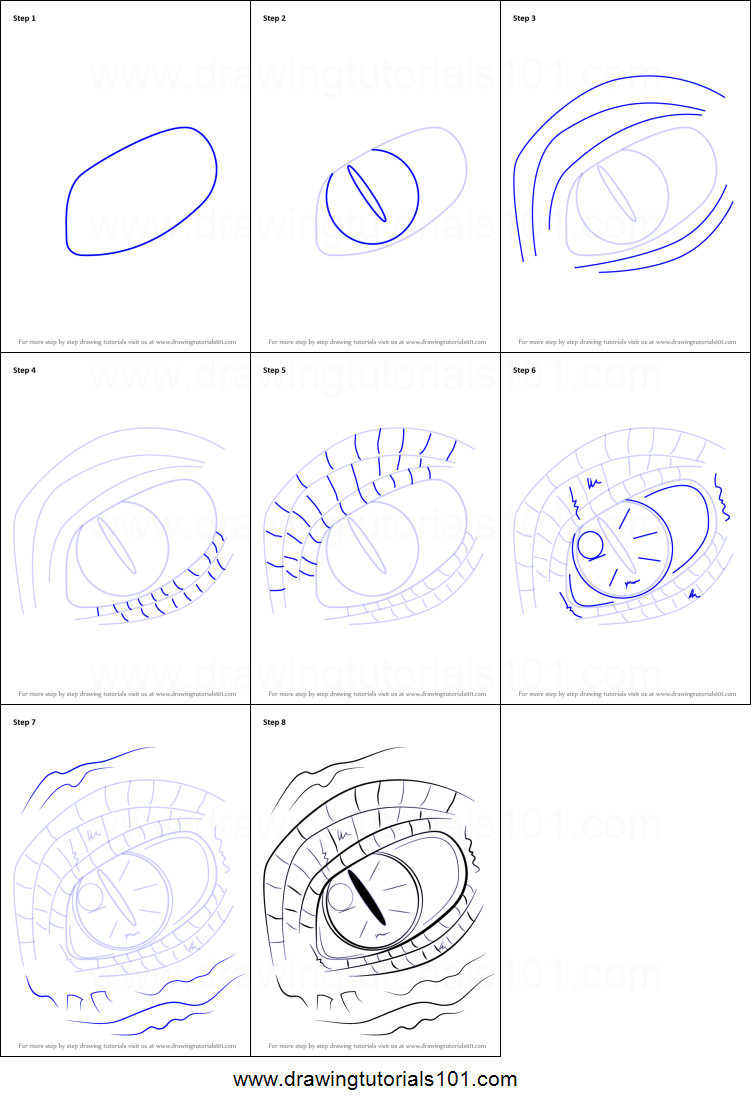 How to Draw Dragon Eyes printable step by step drawing ... | 751 x 1107 png 173kB