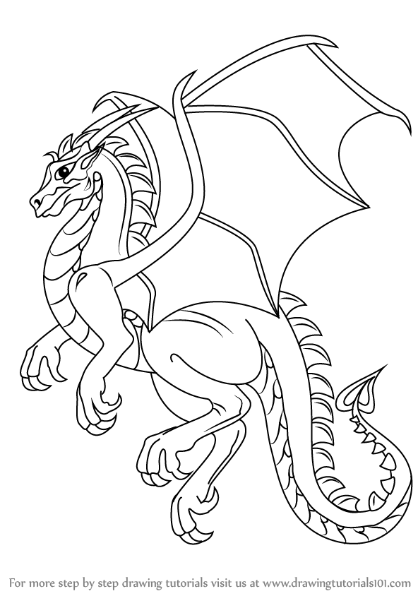 Learn how to draw a dragon dragons step by step drawing tutorials
