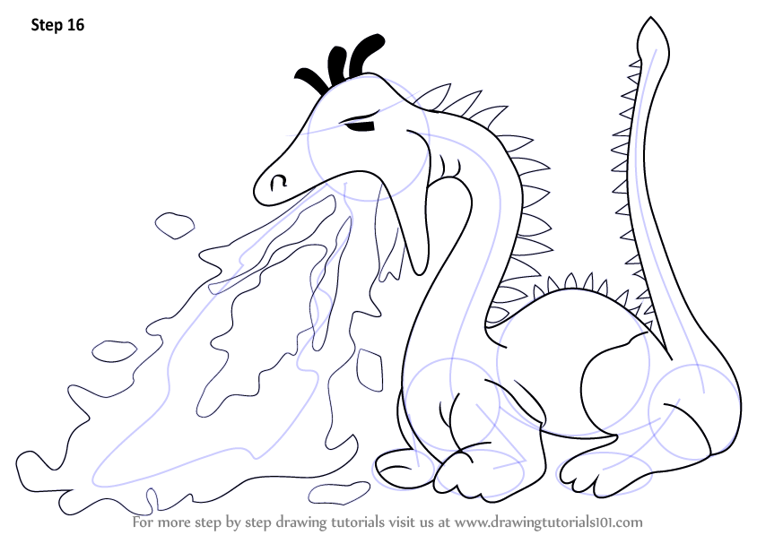 Learn How To Draw A Fire Breathing Dragon For Kids Dragons Step By Step Drawing Tutorials
