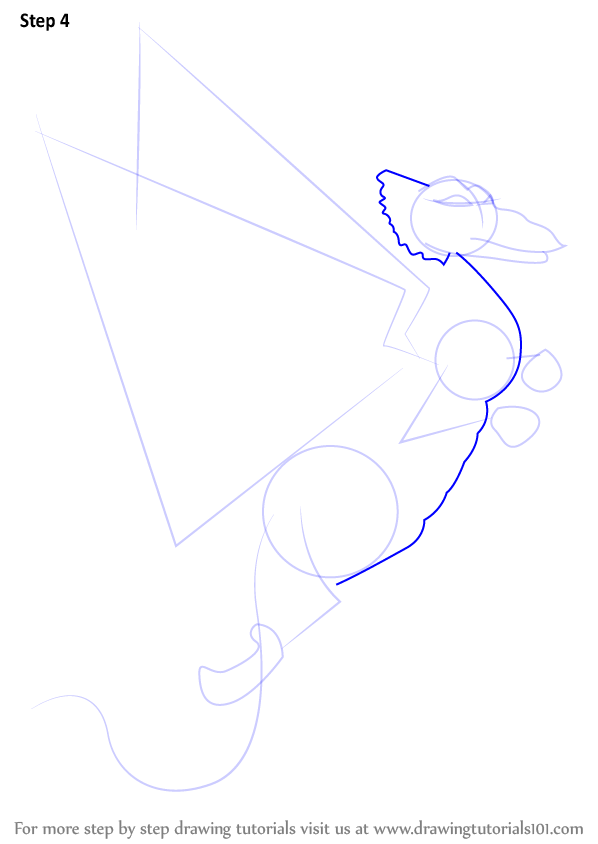how to draw a flying dragon easy