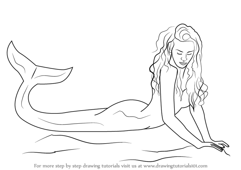 Learn how to draw a mermaid mermaids step by step drawing tutorials