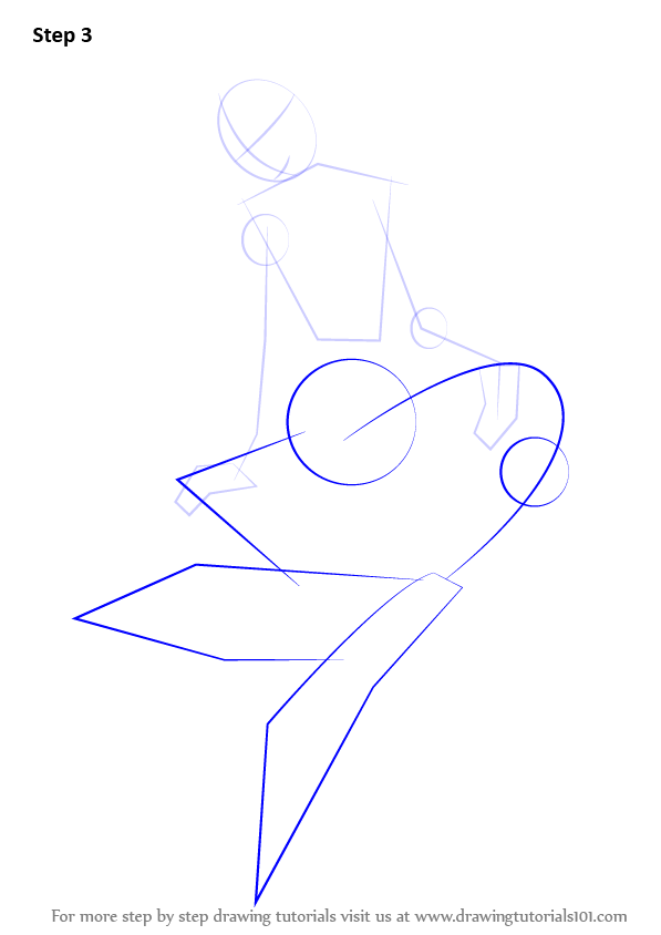 learn how to draw a mermaid sitting on a rock  mermaids