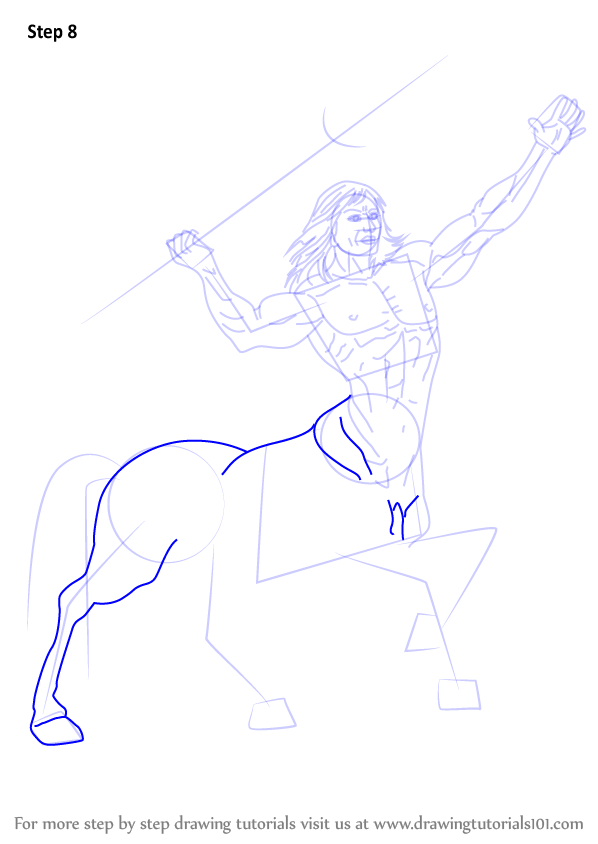 Learn How To Draw A Centaur Other Creatures Step By Step