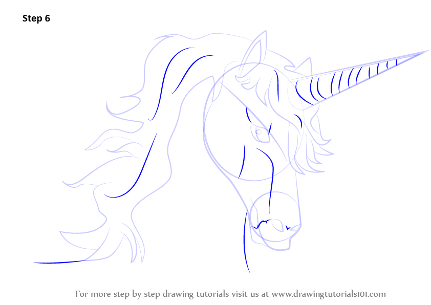 step by step how to draw a baby unicorn