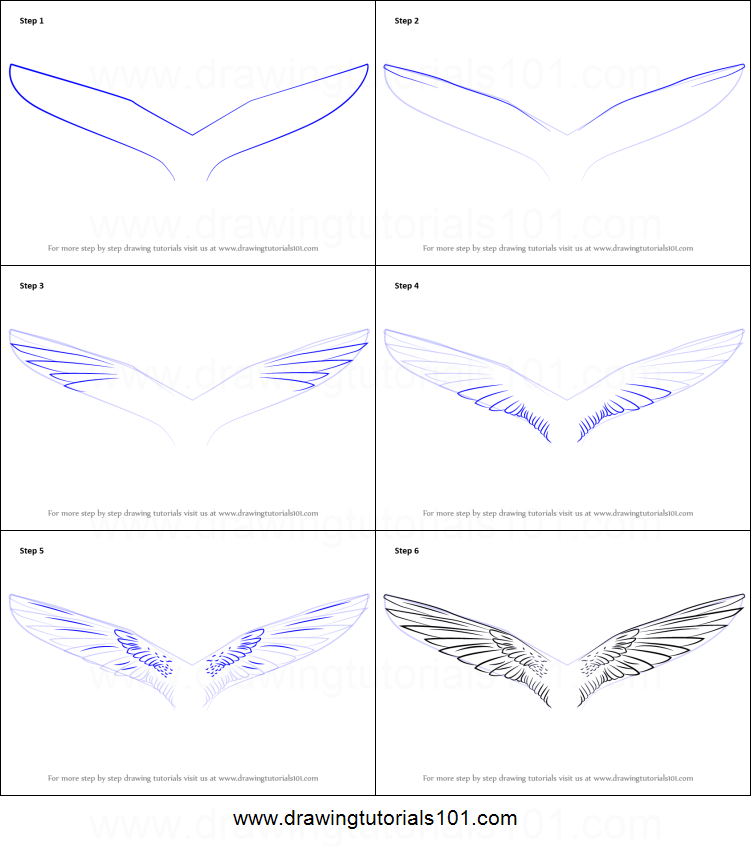 How To Draw Unicorn Wings Printable Step By Step Drawing Sheet