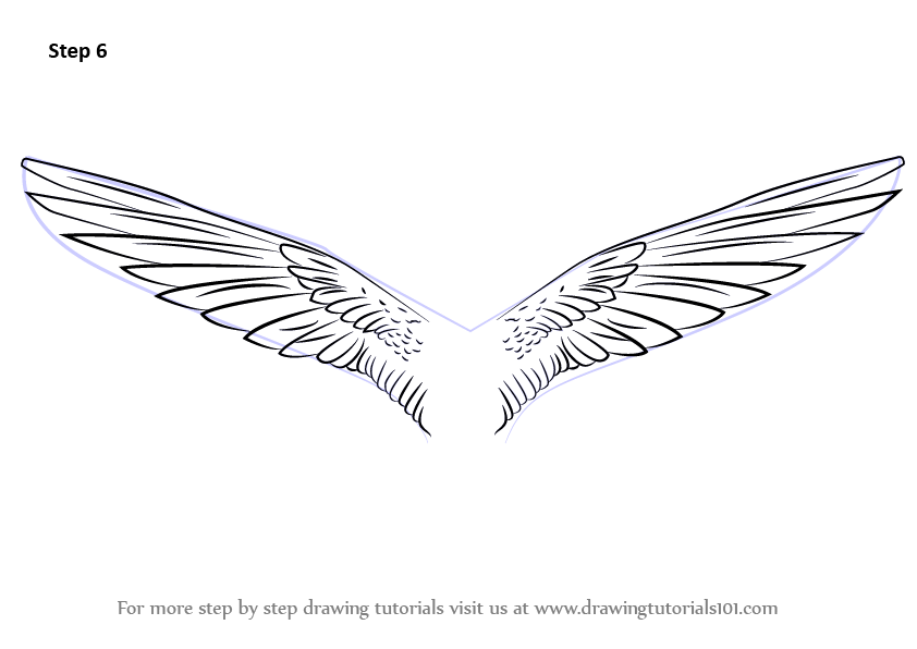 Learn How to Draw Unicorn Wings (Unicorns) Step by Step : Drawing ...