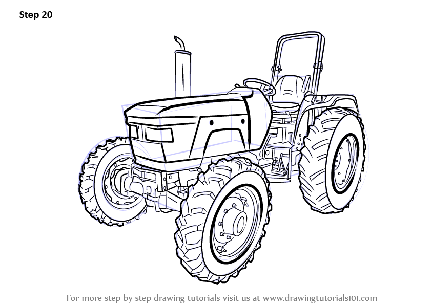 Learn How to Draw a Tractor Agricultural