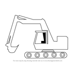 How to Draw a Cartoon Excavator
