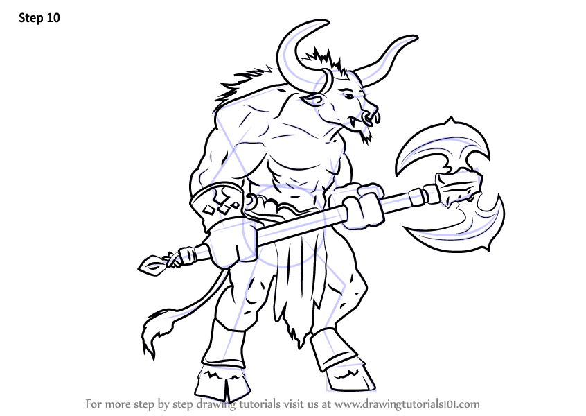 Learn How to Draw a Minotaur Greek