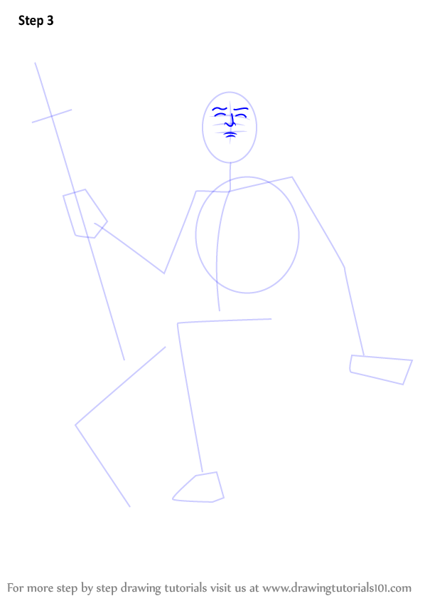 Step by Step How to Draw Poseidon DrawingTutorials101