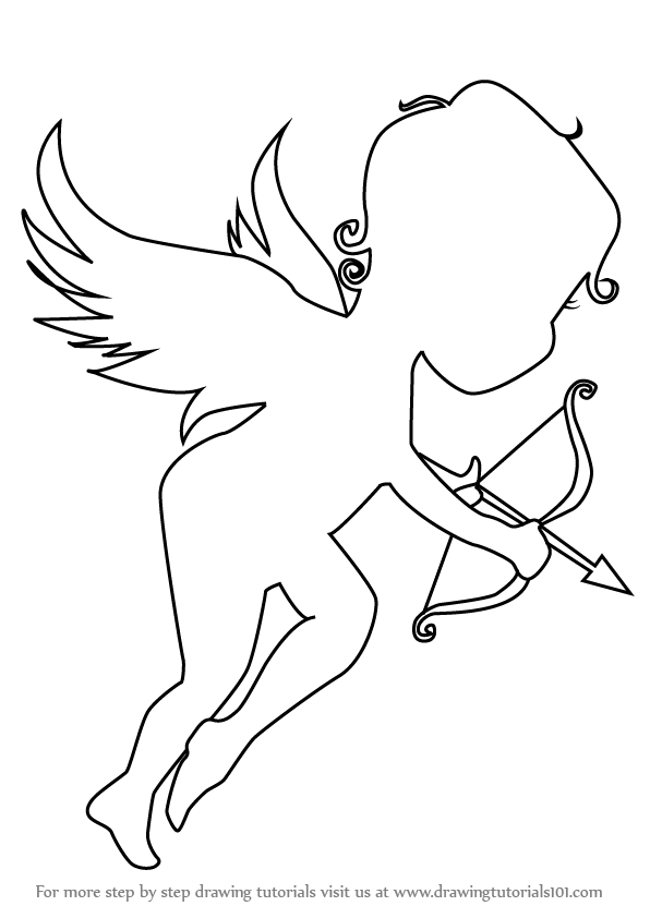 Learn how to draw an angel of love angels step by step drawing tutorials