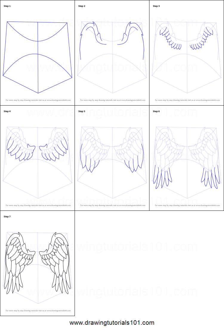 How to draw angel wings printable step by step drawing sheet how to draw angel wings printable step by step drawing sheet drawingtutorials101 biocorpaavc