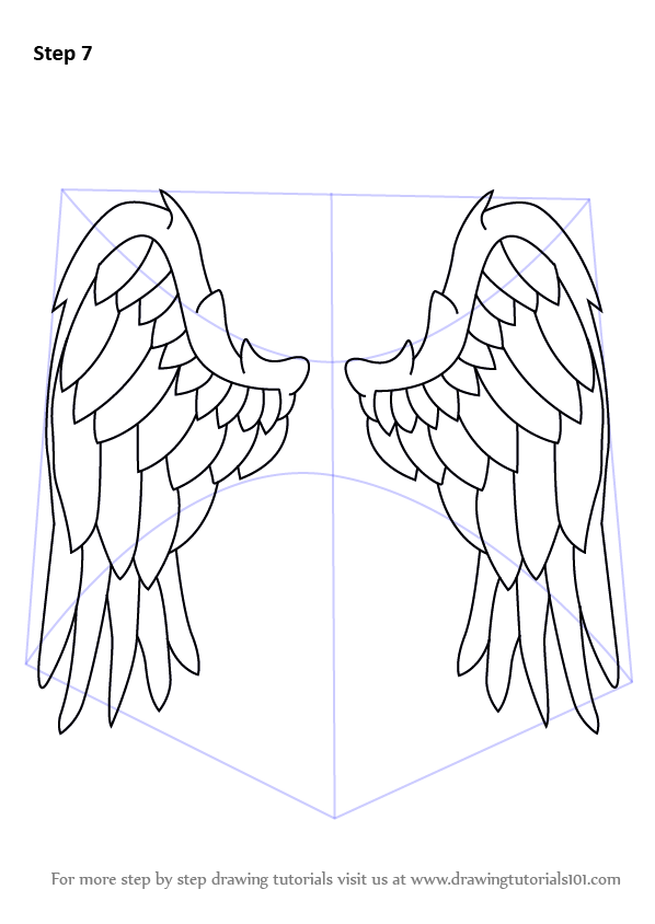 Learn How To Draw Angel Wings (Angels) Step By Step
