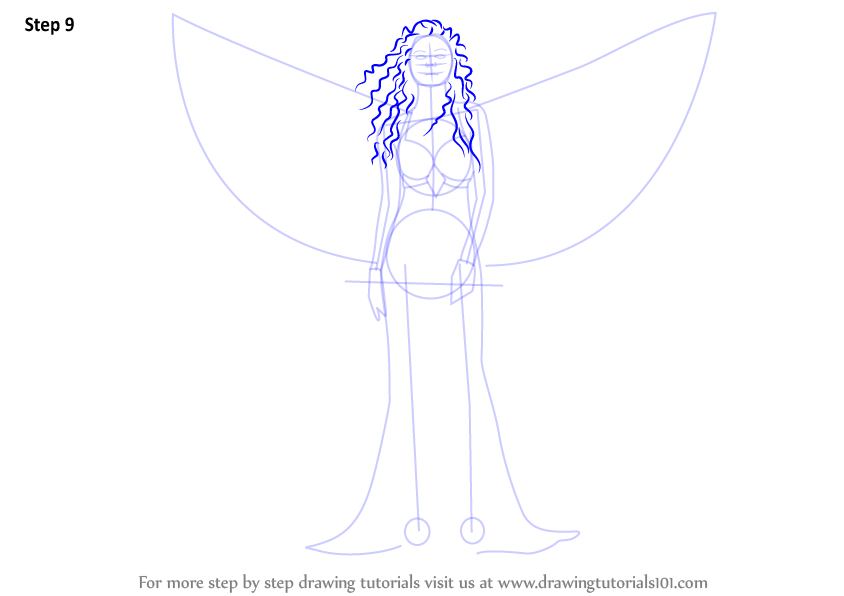 Learn How To Draw An Angel With Sword (Angels) Step By