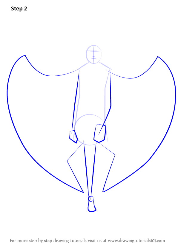 Step by Step How to Draw an Angel with Wings ...