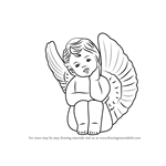 How to Draw a Baby Angel with Wings