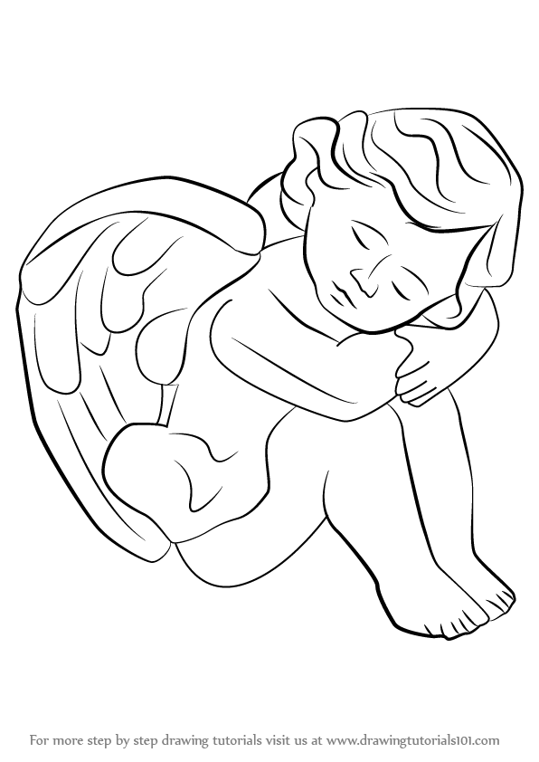 Learn how to draw a baby angel angels step by step drawing tutorials