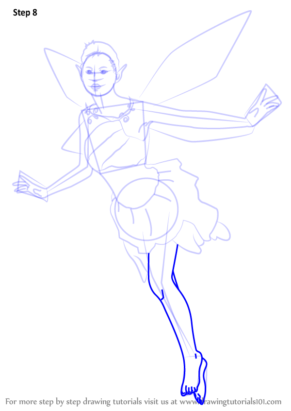 Step by step how to draw a fantasy fairy for How to draw a cartoon fairy