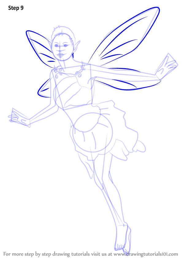 Learn How To Draw A Fantasy Fairy Angels Step By Step