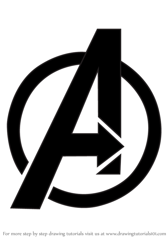 Learn How To Draw Avengers Logo (Brand Logos) Step By Step  Drawing Tutorials