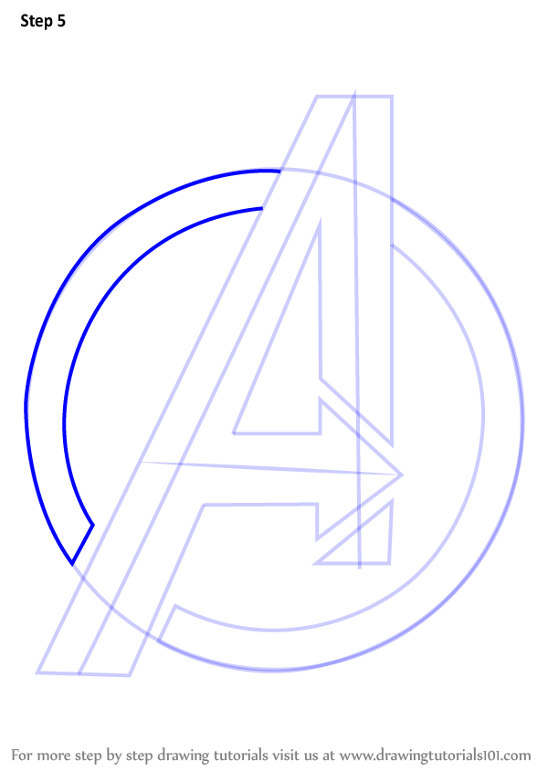 Learn How To Draw Avengers Logo Brand Logos Step By Step