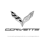 How to Draw Corvette Logo