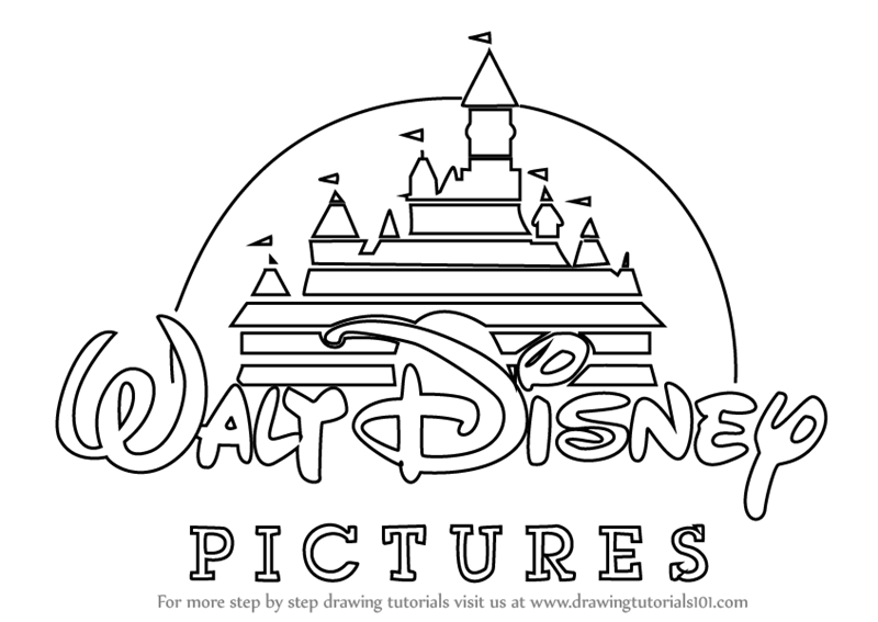 Learn How to Draw Walt Disney Logo Brand Logos Step by Step