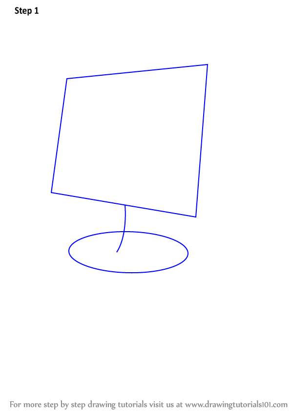 Learn How to Draw a Computer for Kids (Computers) Step by ...