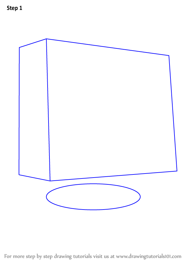 Learn How to Draw a Computer Monitor (Computers) Step by ...