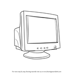 How to Draw a Computer Monitor