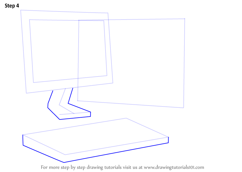 Learn How to Draw a Computer (Computers) Step by Step ...